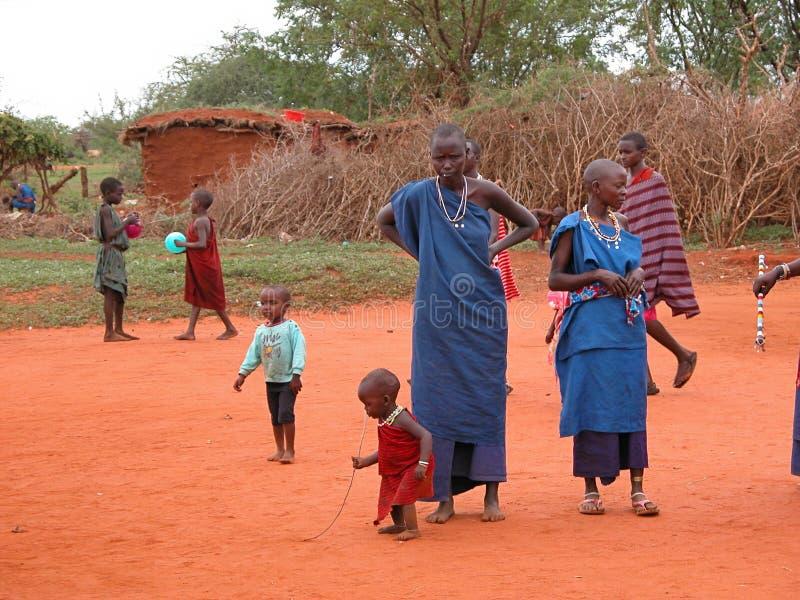 триба masai стоковое фото rf