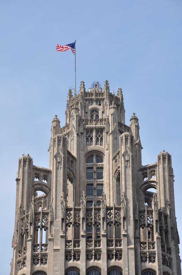 трибуна башни chicago верхнее стоковое фото