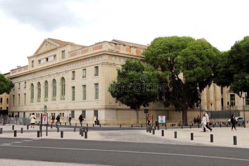 Трибунал de Большой Пример в Nîmes, Франции стоковые фотографии rf