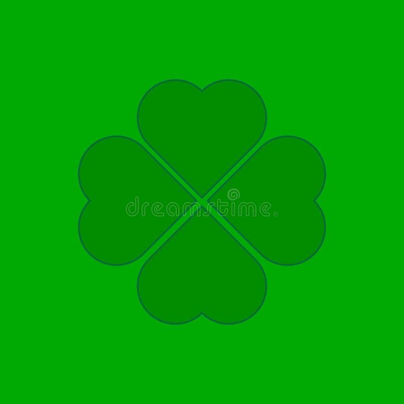 Трилистник на зеленой предпосылке иллюстрация штока