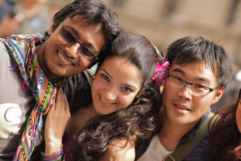 Трио на гей-параде 2013 Лондона стоковая фотография