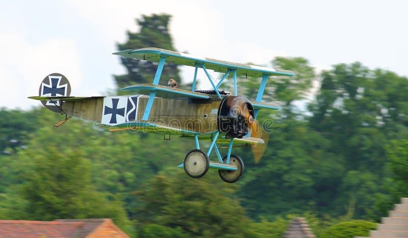 Триплан немца Fokker стоковые изображения rf