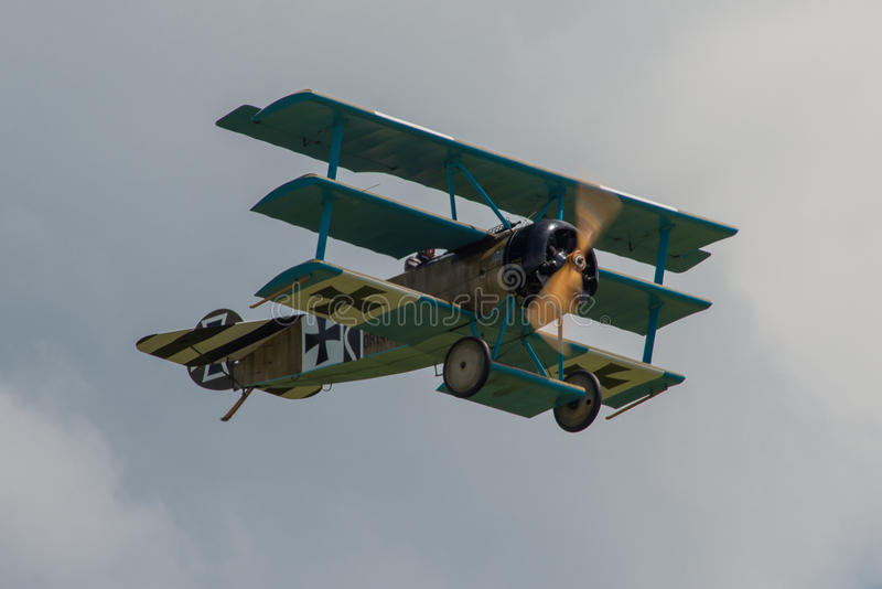 Триплан Fokker DR1 стоковые изображения rf