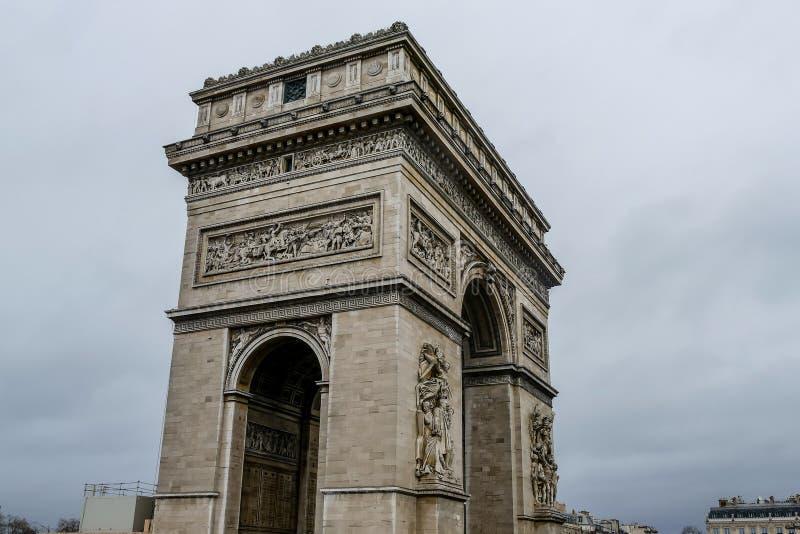 Триумфальная Арка, изображение фото красивый панорамный вид города Парижа столичного стоковые фото