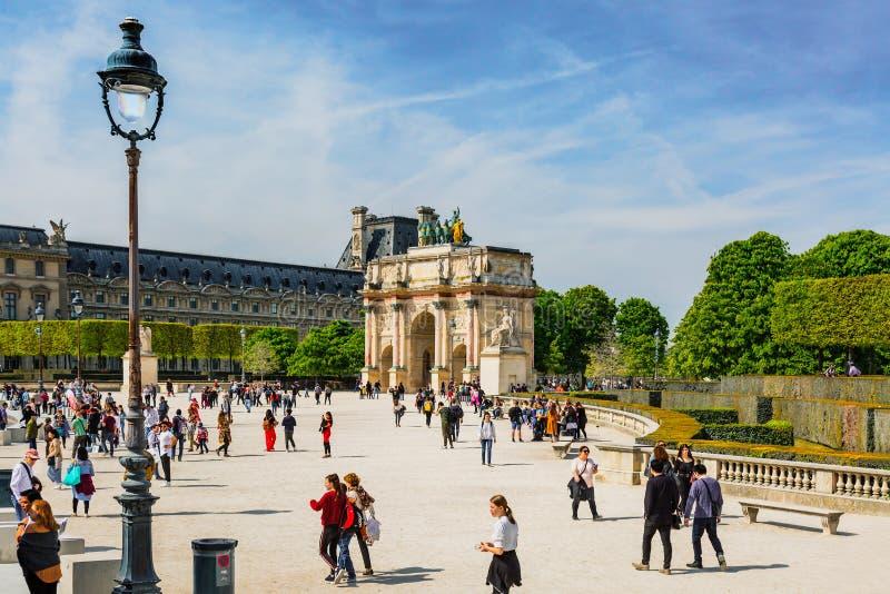 Триумфальная Арка du Carrousel в Париже, Франции стоковая фотография rf