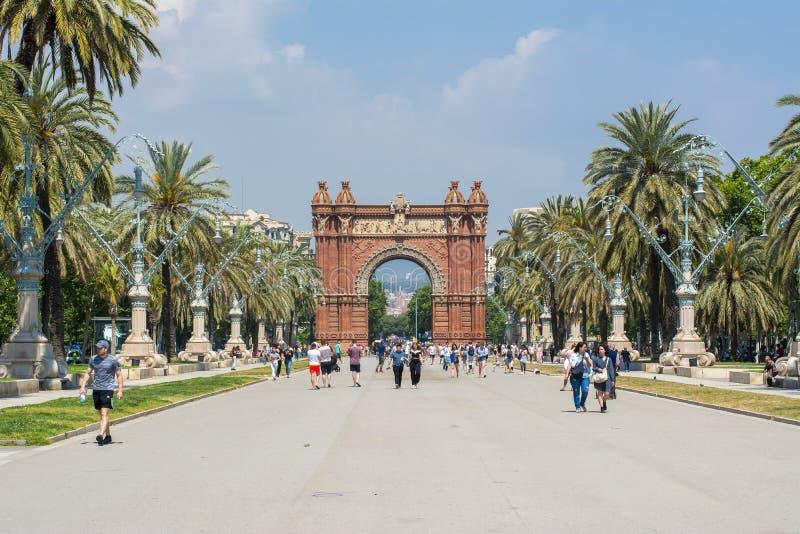 Триумфальный свод Дуга de Triomf в Барселоне, Испании стоковые изображения