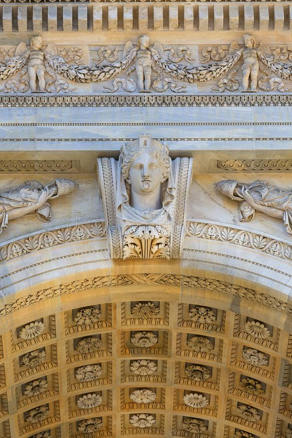 Триумфальный свод, свод мира, Милан, Италия стоковые изображения