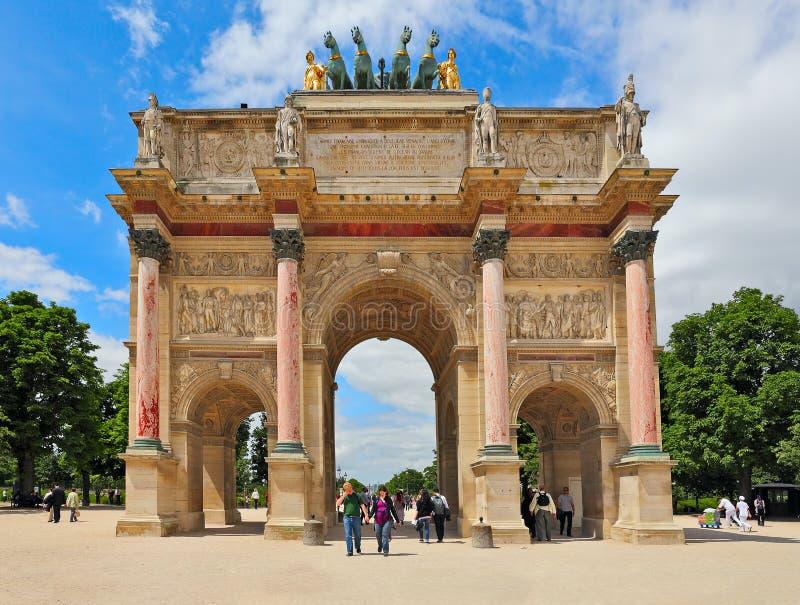 Триумфальная Арка du Carrousel. Париж, Франция. стоковая фотография rf