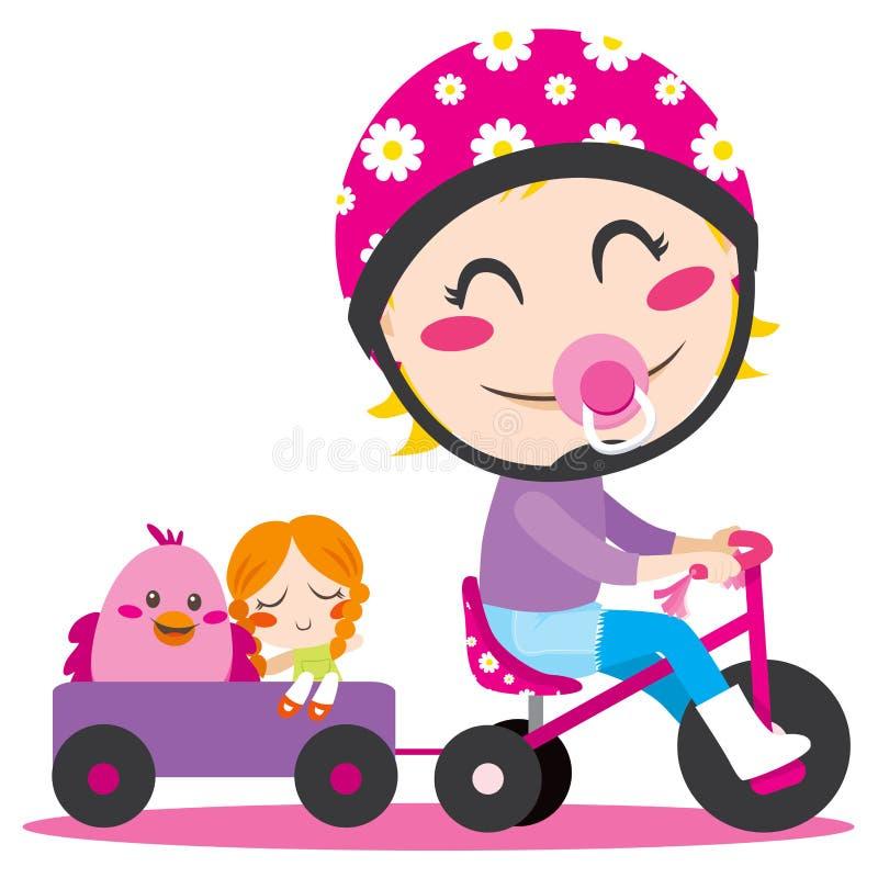 трицикл трейлера иллюстрация штока