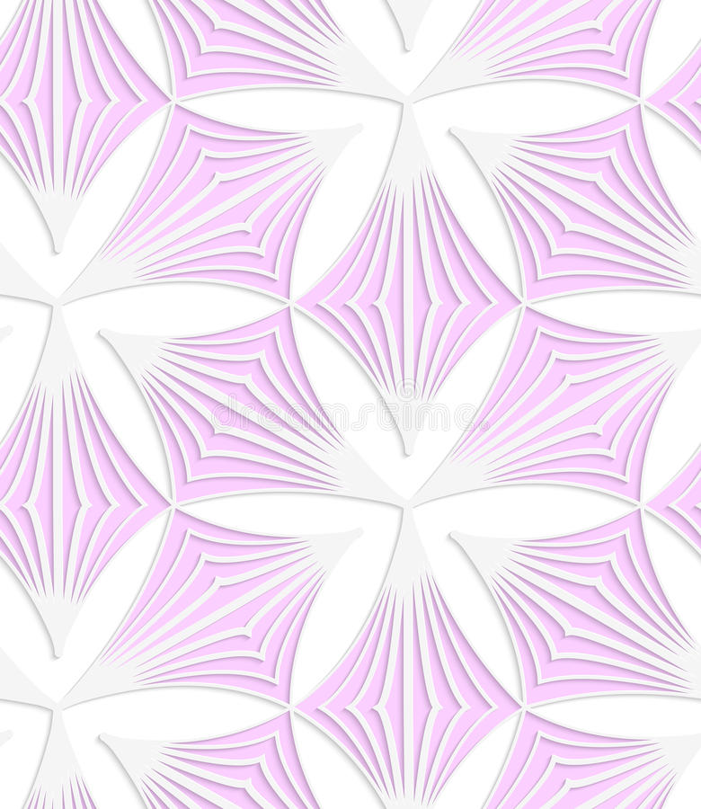 Трилистники пинка покрашенной бумаги белизны заострённые иллюстрация штока