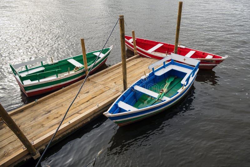 Три катера на шлюпке стоковое изображение