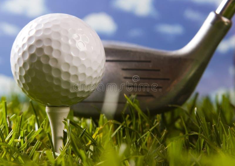 Download тройник гольфа клуба шарика Стоковое Фото - изображение насчитывающей хобби, green: 6858398