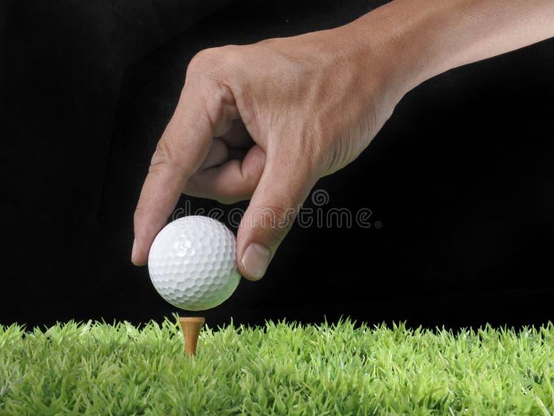 тройник гольфа шарика стоковые изображения rf
