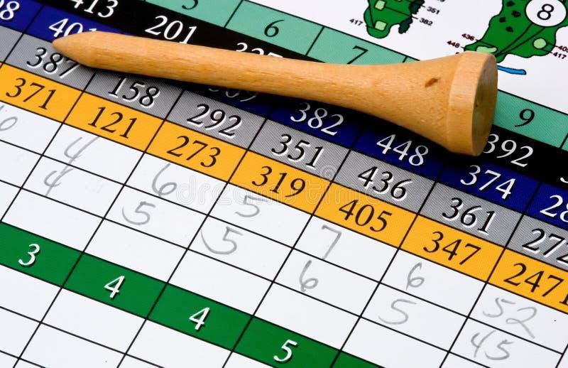 тройник оценочного листа гольфа стоковая фотография