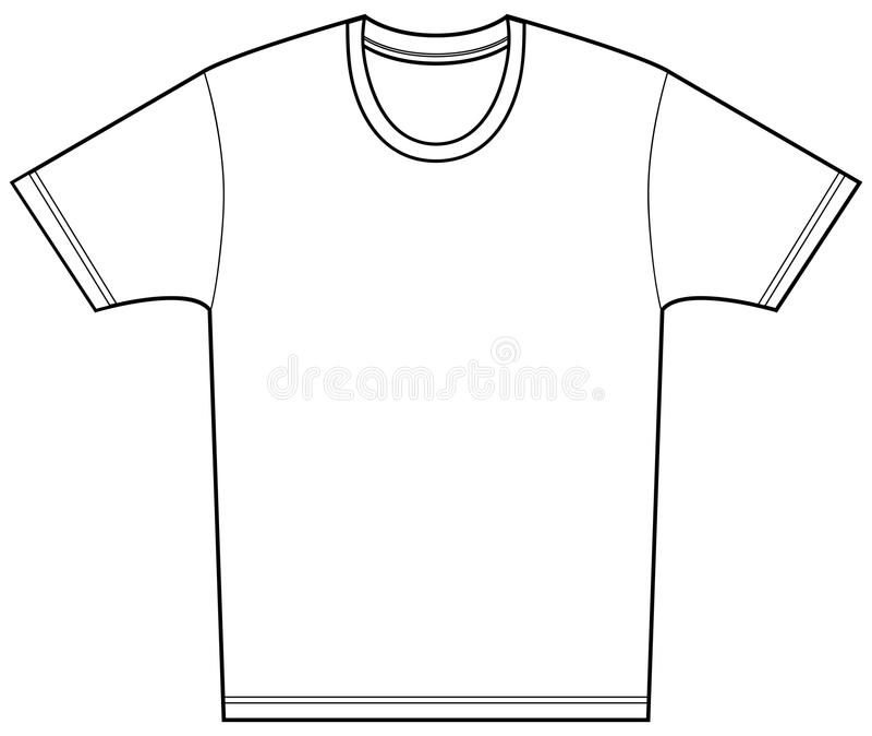тройник рубашки иллюстрация вектора