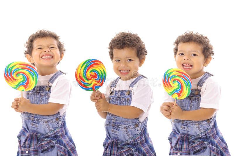 тройни lollipop стоковые изображения rf