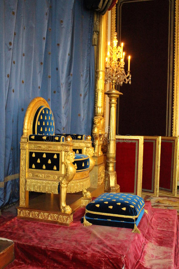 Трон Наполеона стоковое изображение rf