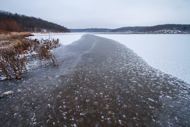 Тропа на льде стоковое фото rf
