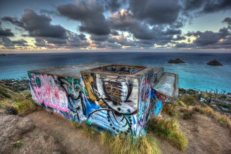 Тропа Kailua Гаваи коробочки для таблеток стоковые изображения