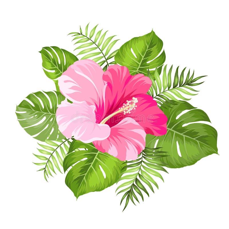 Тропическая гирлянда цветка бесплатная иллюстрация