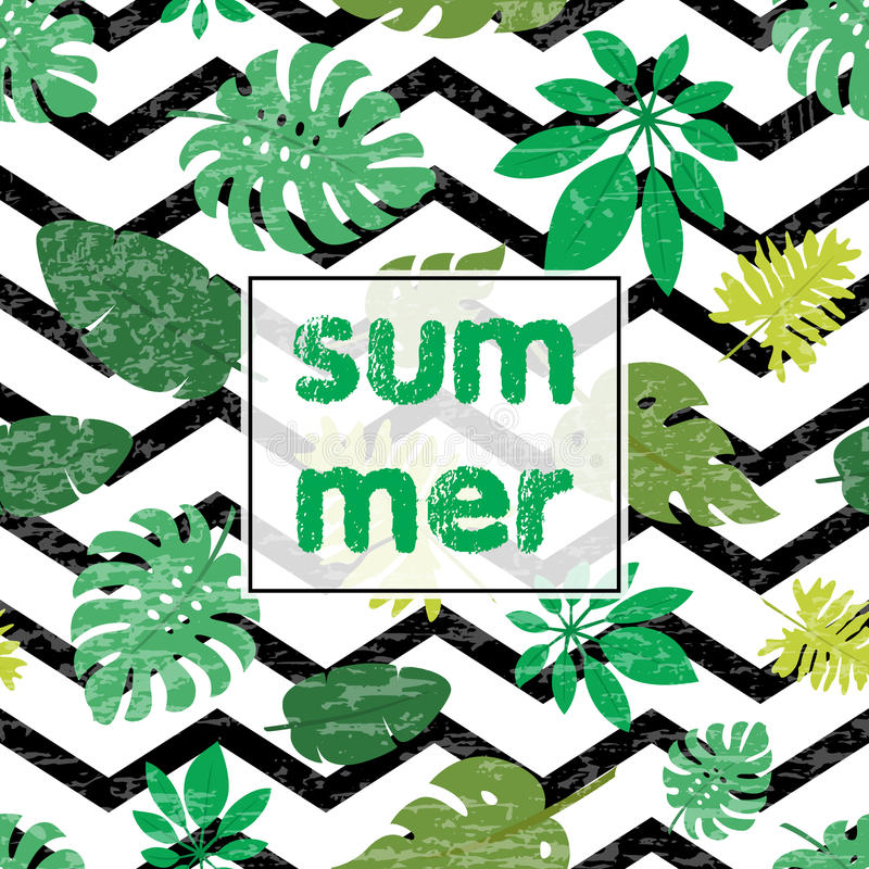 Тропическая карточка 2 листьев бесплатная иллюстрация
