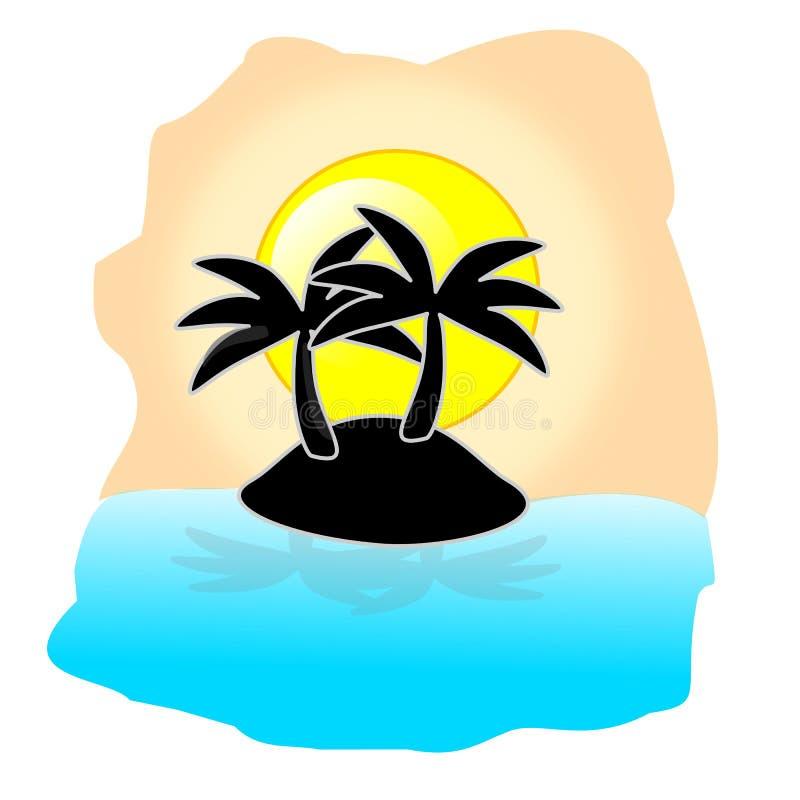 Тропический вектор острова стоковое изображение