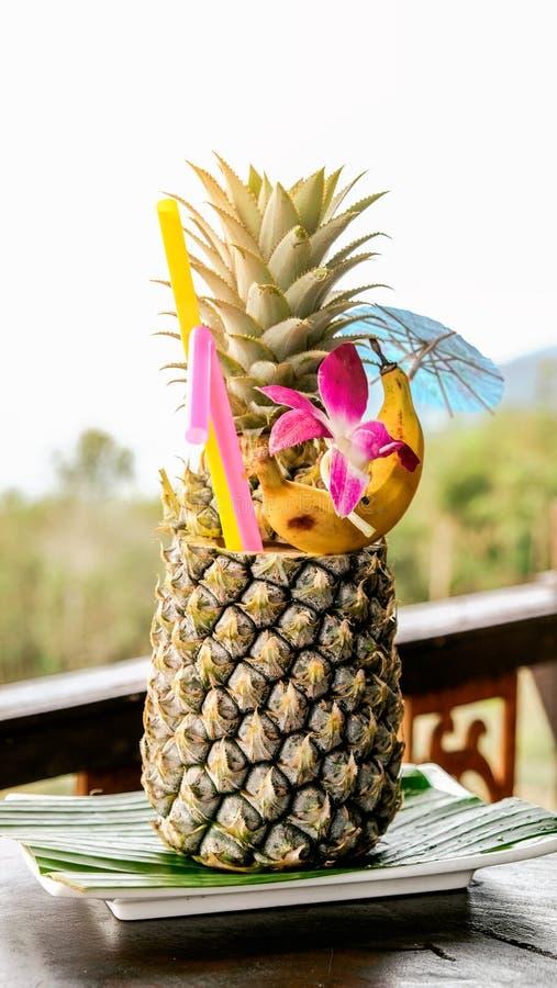 Тропический коктеиль с взглядом на Таиланде стоковое изображение