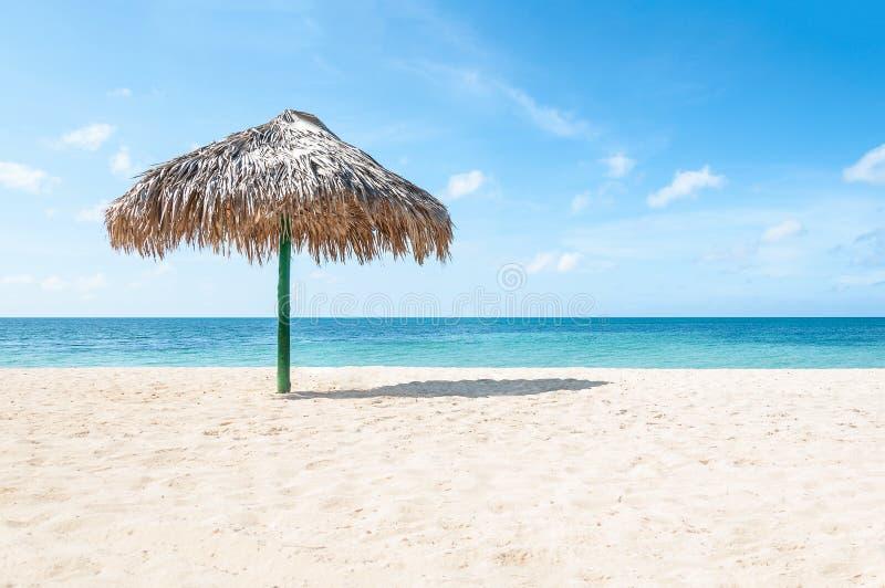 Тропический курорт пляжа с белым песком стоковое изображение rf
