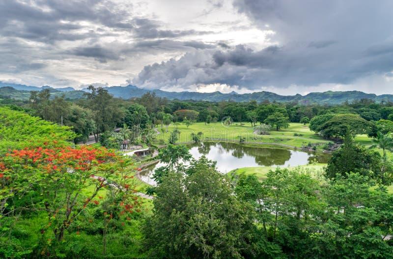Тропический ландшафт Лусона, Филиппины стоковые фотографии rf