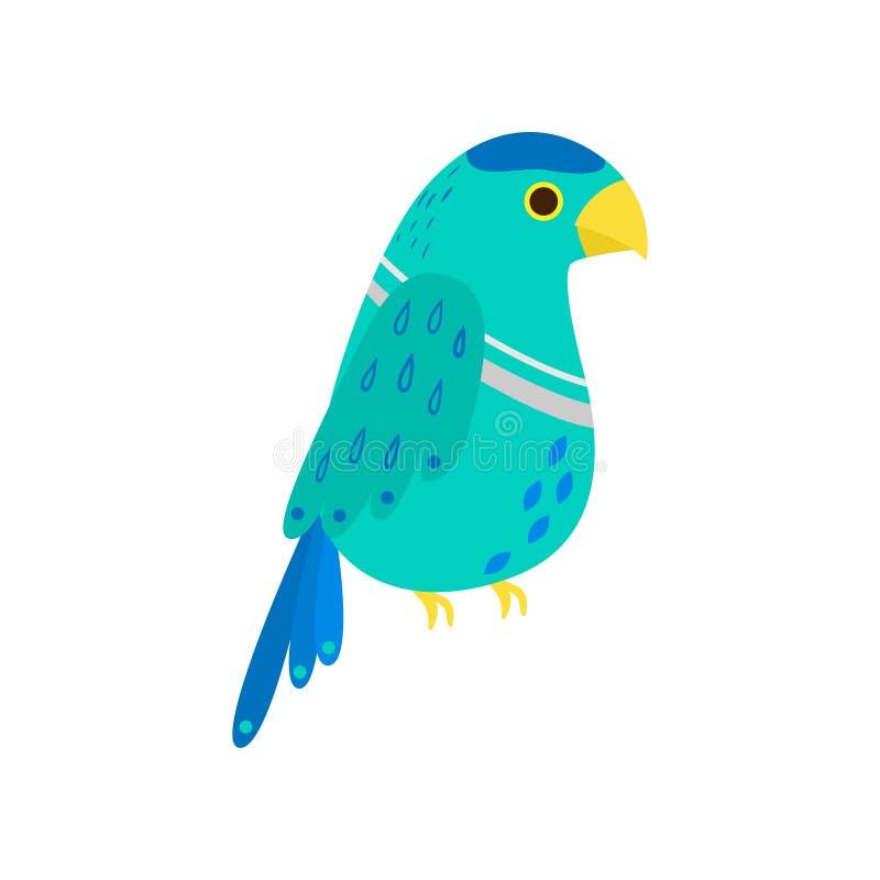 Тропический милый попугай kea, красочный вид экзотического бесплатная иллюстрация