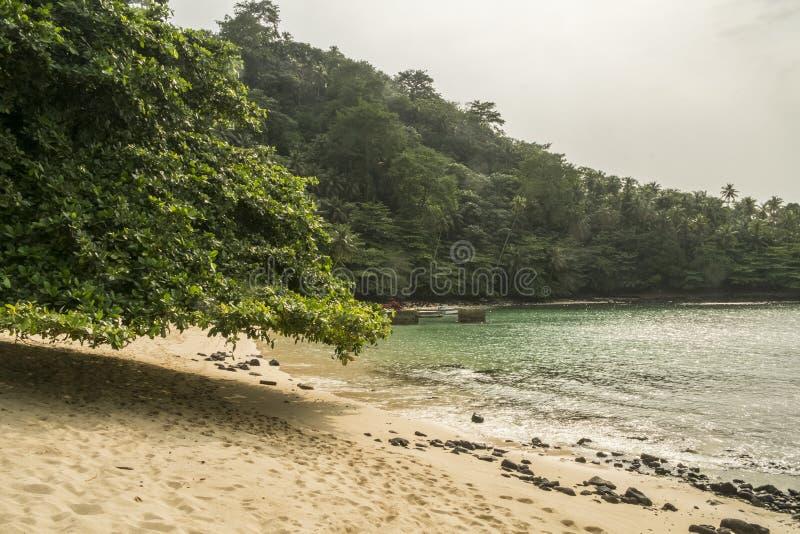 Тропический остров Sao Tome стоковая фотография
