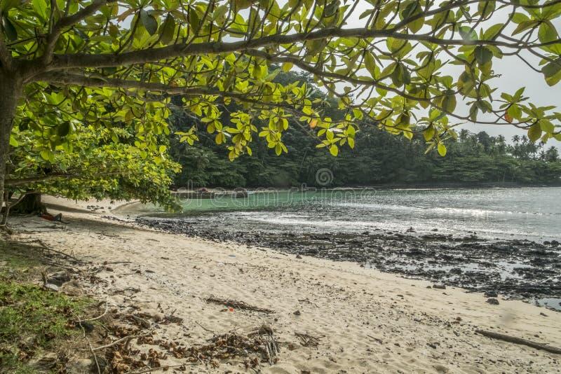 Тропический остров Sao Tome стоковое изображение rf