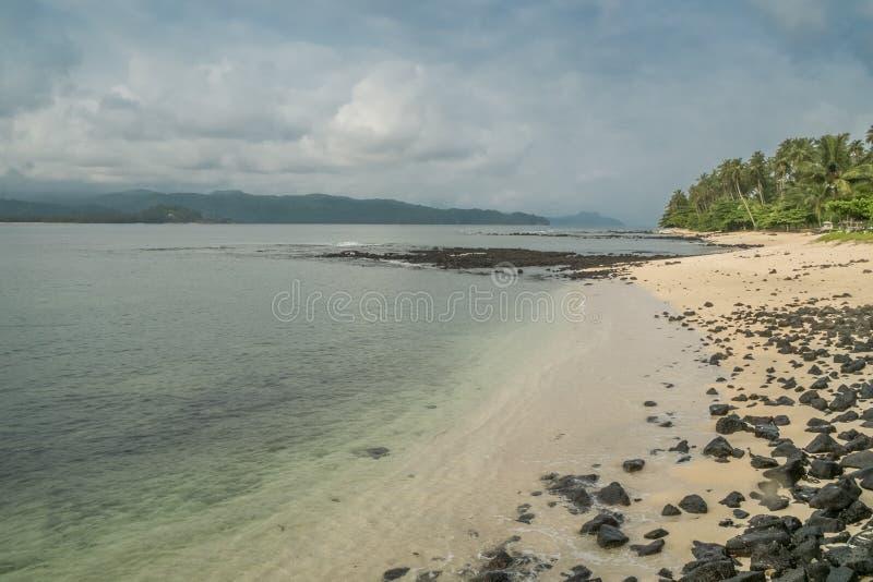 Тропический остров Sao Tome стоковое изображение