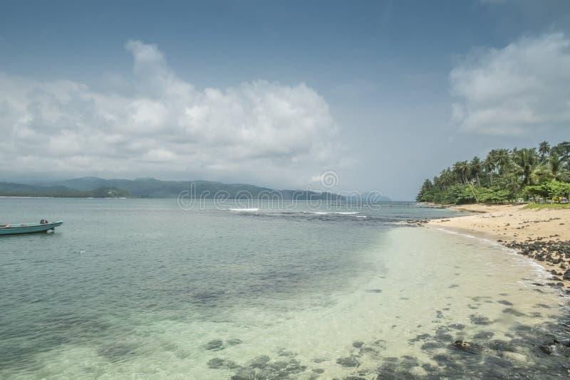 Тропический остров Sao Tome стоковые изображения