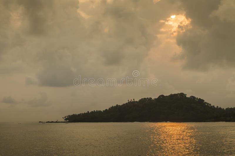 Тропический остров Sao Tome стоковое фото rf