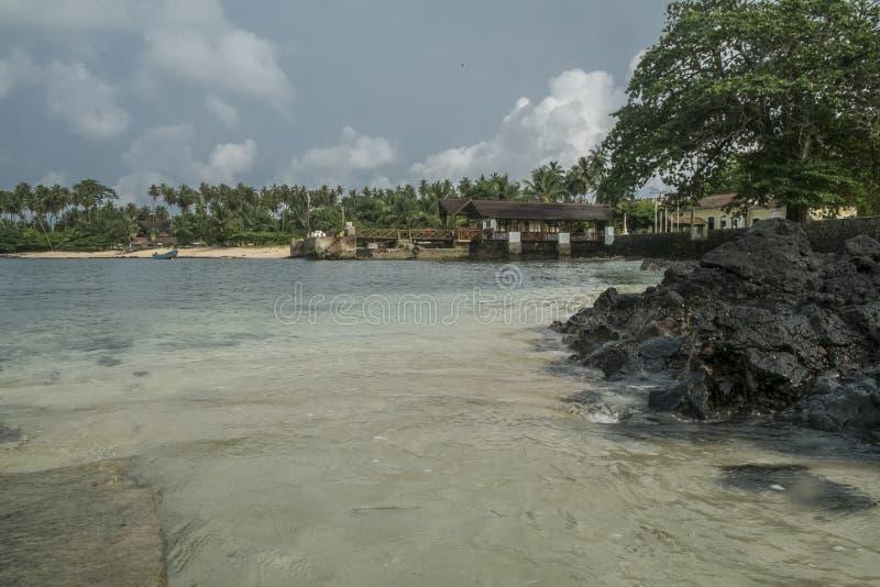Тропический остров Sao Tome стоковые фото