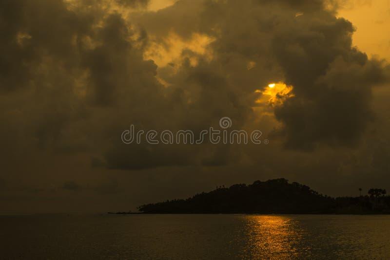 Тропический остров Sao Tome стоковая фотография rf