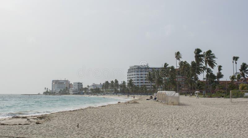 Тропический пляж на карибском острове San Andres, Колумбии стоковое фото