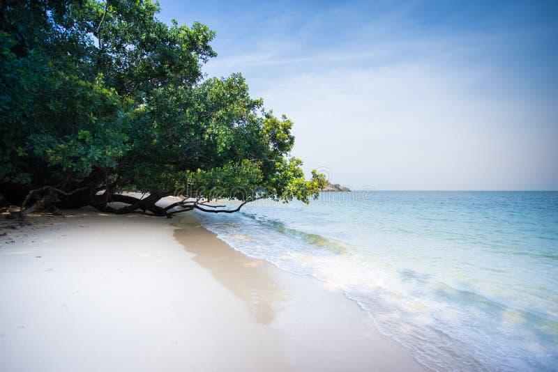 Тропический пляж на Koh Phayam стоковая фотография