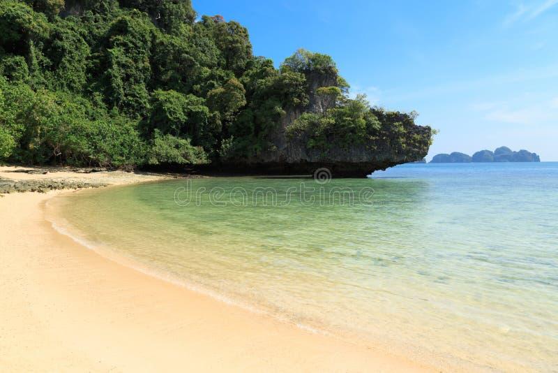 Тропический рай острова, Koh Pakbia, Krabi, Таиланд стоковое изображение