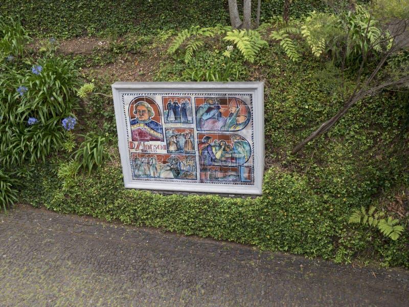 Тропический сад на Monte над Фуншалом Мадейрой стоковое фото