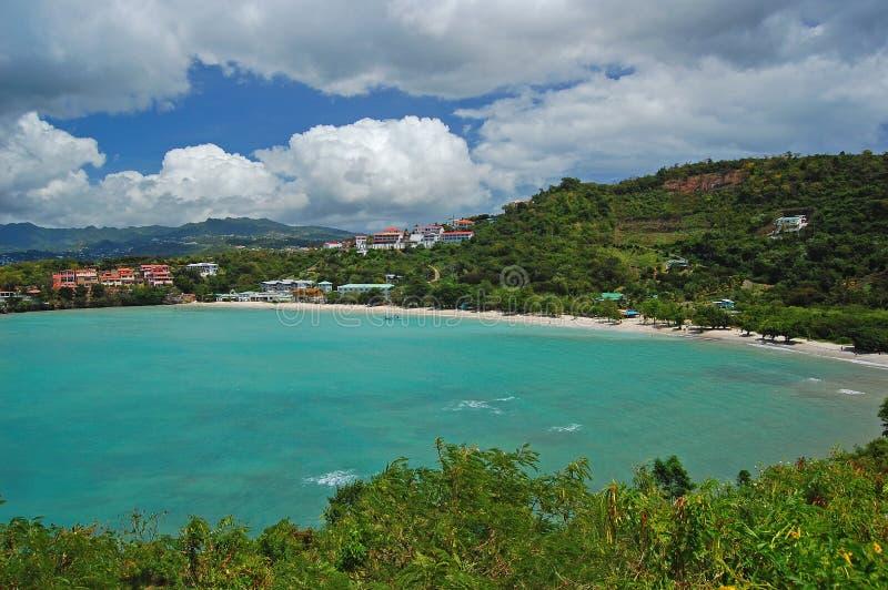 тропическое Гренады пляжа secluded стоковое изображение