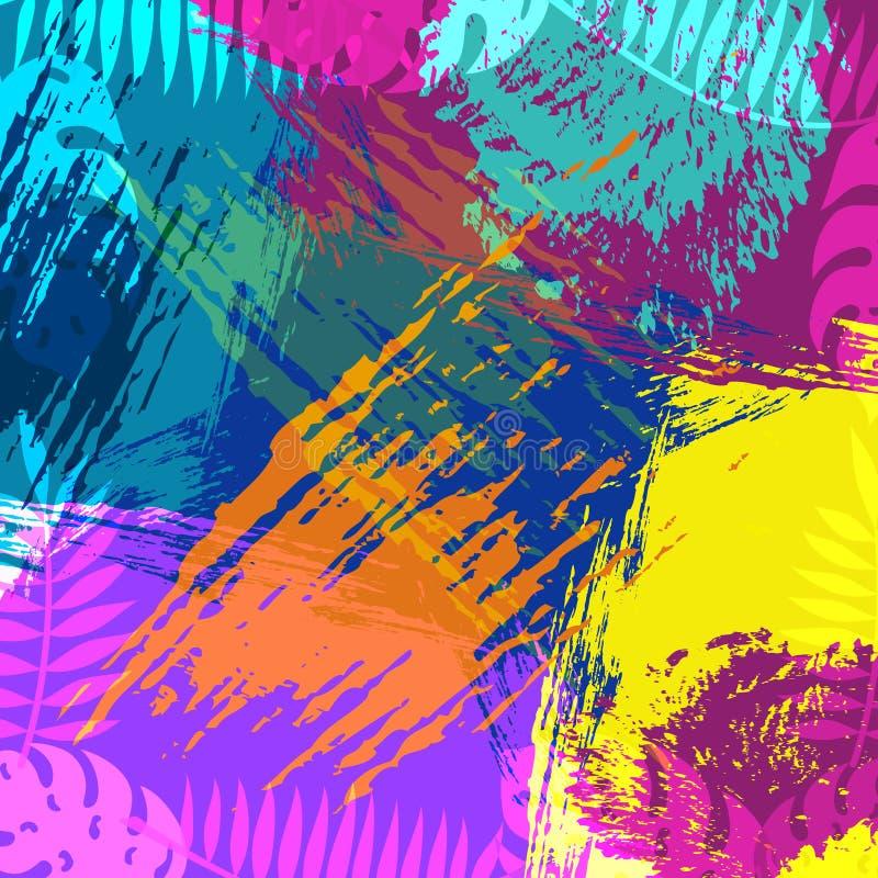 Тропическое искусство предпосылки конспекта природы лета иллюстрация вектора