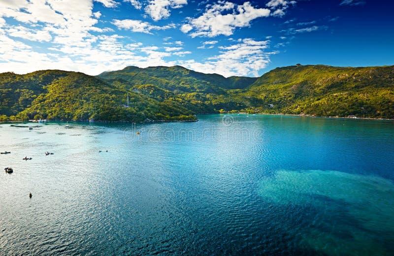 Тропическое море в Гаити стоковая фотография rf