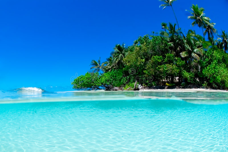 тропическое острова разделенное съемкой стоковая фотография rf