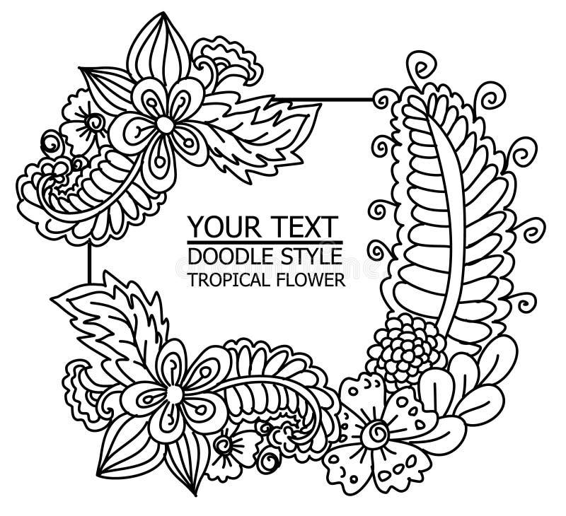 Тропическое разрешение и цветок для предпосылки иллюстрация вектора