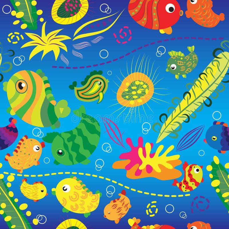 тропическое рыб предпосылки безшовное бесплатная иллюстрация