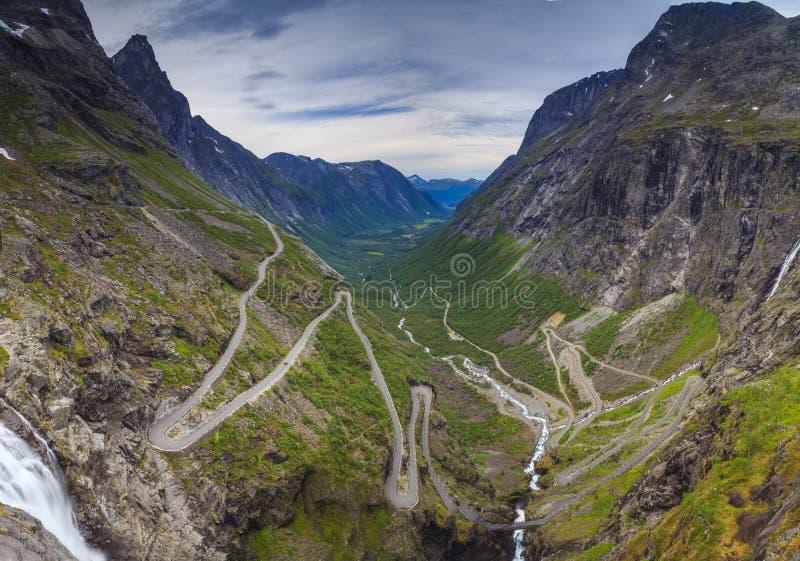 Тропка Норвеги-Troll стоковая фотография rf