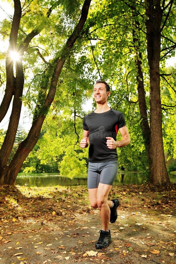 тропка спортсмена jogging мыжская стоковые изображения
