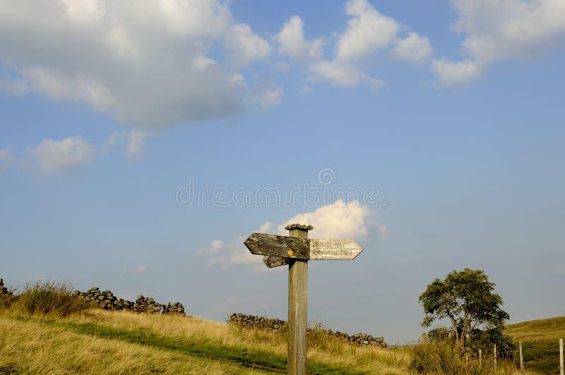 Тропка страны Brontë стоковое изображение